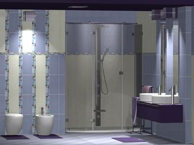 Коллекция Bellagio Blue. Фабрика VICTORIA CERAMIСA. Керамическая плитка для ванной Польша.